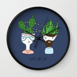 Let's Get Lit Wall Clock