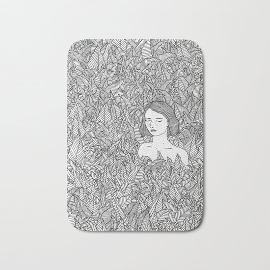 In the Leaves Original Illustration Bath Mat