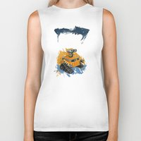 wall e Biker Tanks featuring Wall-E and Rothko by Renee Bolinger