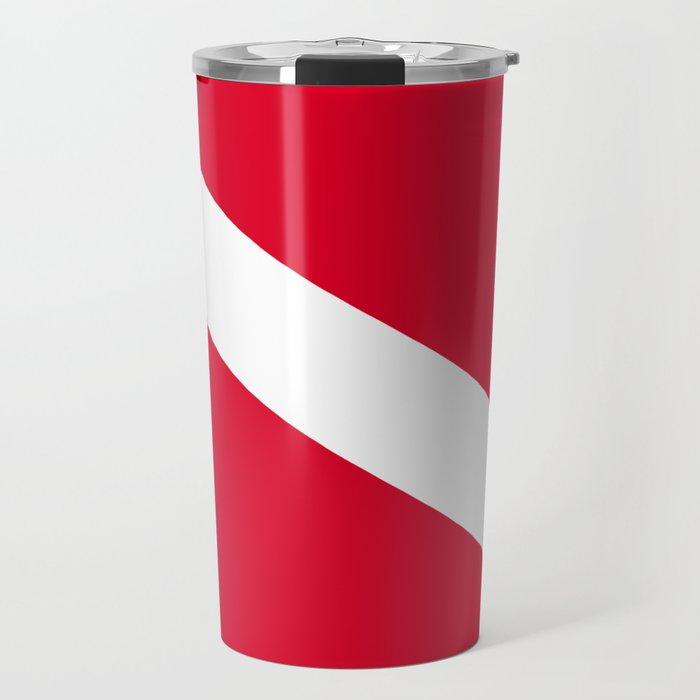Diver Flag Travel Mug