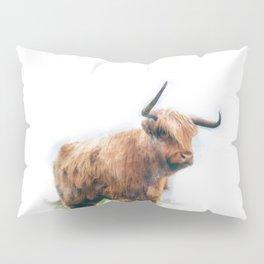 Highland Cow Watercolour Pillow Sham