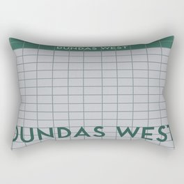 DUNDAS WEST | Subway Station Rectangular Pillow