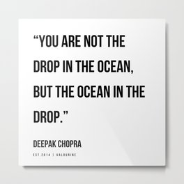 52  | Deepak Chopra Quotes | 191006 Metal Print