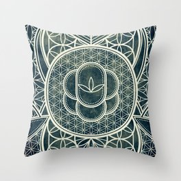 Ultra Sacred Geometry Dark Throw Pillow