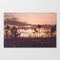 california Canvas Prints featuring California by thecrazythewzrd