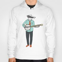 banjo Hoodies featuring Banjo Badger by Prelude Posters