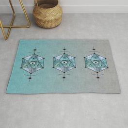 Sacred Geometry Eye Of Protection Rug