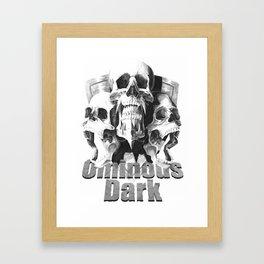 Ominous Dark Framed Art Print