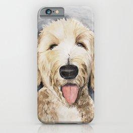 Goldendoodle Watercolor iPhone Case