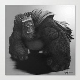 Gorilla King Canvas Print