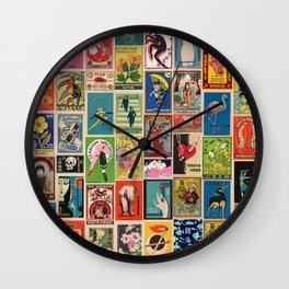 Zadro (Vintage Matchbox Wallpaper) Wall Clock