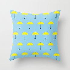 HIMYM Yellow Umbrella Throw Pillow
