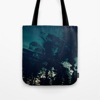 palms Tote Bags featuring Palms by CloudedSunset