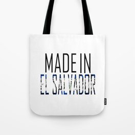 Made In El Salvador Tote Bag