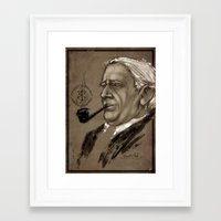 tolkien Framed Art Prints featuring J.R.R. Tolkien by Angelica Arfini