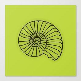 Lime Seashell Art Print Home Decor Sea Theme Shell Print Canvas Print