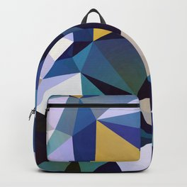 Abstract Geometric Triangle Pattern Backpack