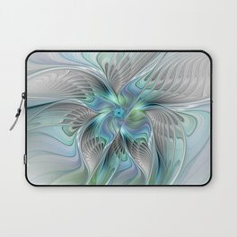 Abstract Butterfly, Fantasy Fractal Art Laptop Sleeve