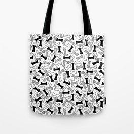 Kawaii Black Bones Pattern Tote Bag