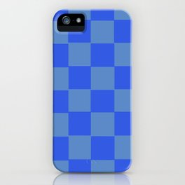 Blue Chex 2 iPhone Case