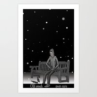 whisky Art Prints featuring snow & whisky by ASIMON