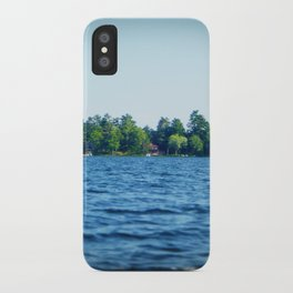 Lake Water View Color Photo iPhone Case