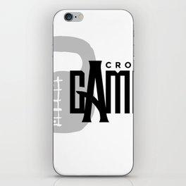CrossFit Gambit B&W Fluer De Lis logo iPhone Skin