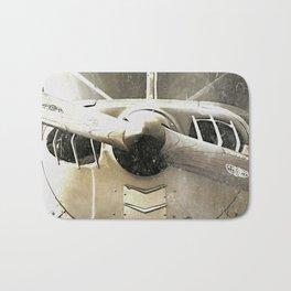 Antique Airplane Nose Bath Mat