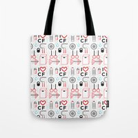 crossfit Tote Bags featuring CrossFit Love by Golden Heart