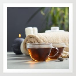 tea and spa composition Art Print