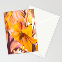 Yellow Lilies In The Garden #decor #society6 #buyart Stationery Cards