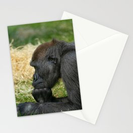 Gorilla Lope Resting His Head Stationery Cards
