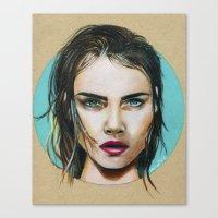 cara Canvas Prints featuring Cara by Akshay R Depala