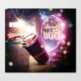Neon Spill Canvas Print