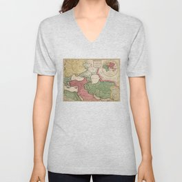 Map of the Middle East (1712) Unisex V-Neck