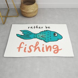 Rather Be Fishing Rug