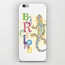 Barcelona City Lizard iPhone Skin