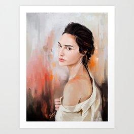 Gal Gadot Woder Woman Art Print