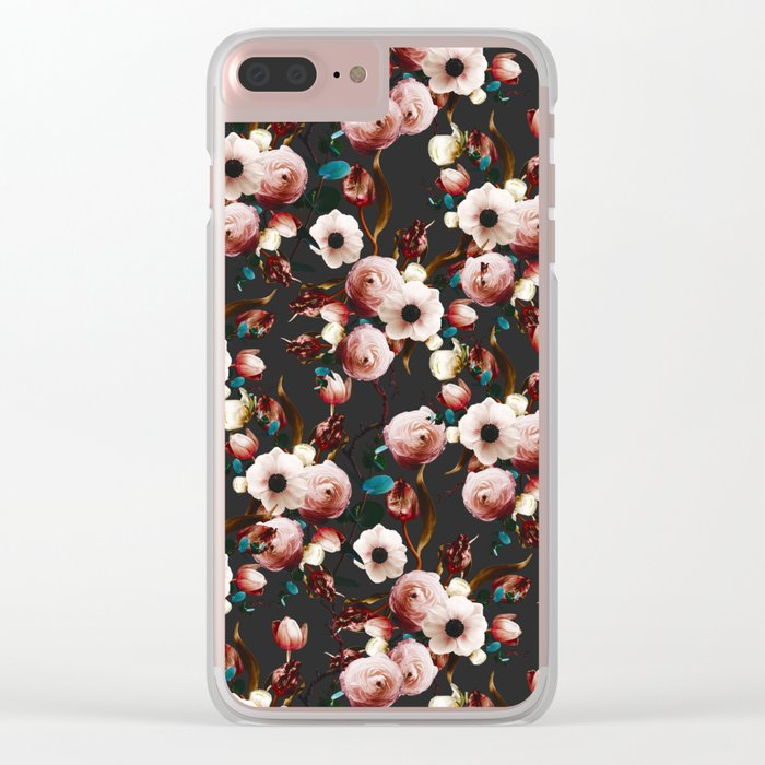 FLORAL PATTERN XII Clear iPhone Case
