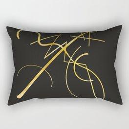 Kandinsky - Black and Gold Rectangular Pillow