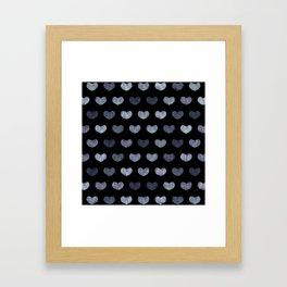 Cute Hearts Framed Art Print