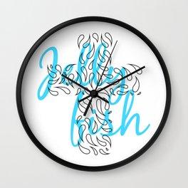 Jellyfish Cross Wall Clock
