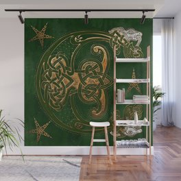 Hunter and Gold Celtic Wall Mural