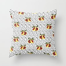 Blood Orange and Dots Throw Pillow