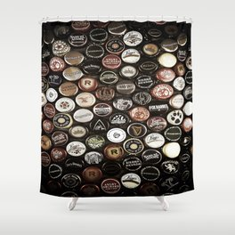 Bottle Caps Shower Curtain