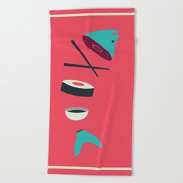 Sushi Fish Beach Towel