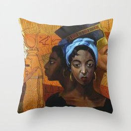 Classical African American Landscape 'Secret History of the Black Race' by Lois Jones Throw Pillow