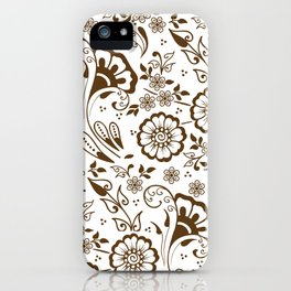 Mehndi or Henna Florals iPhone Case