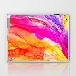Pocket of Sunshine - fluid art, red orange yellow purple, vibrant fun, playroom Laptop & iPad Skin