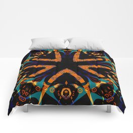 Tribal Geometric Comforters